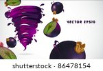 blackcurrant with juicy twister | Shutterstock .eps vector #86478154