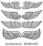 wings collection  | Shutterstock .eps vector #86481403