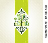 template frame design for xmas... | Shutterstock .eps vector #86481580
