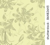 seamless vector floral pattern. ... | Shutterstock .eps vector #86482645