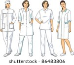 the complete set of medical... | Shutterstock .eps vector #86483806