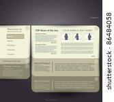 web site design template ... | Shutterstock .eps vector #86484058