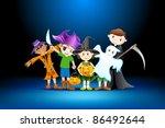 illustration of kids in costume ... | Shutterstock .eps vector #86492644
