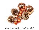 Orange Christmas Balls And Pin...