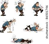 drunkard man vector illustration   Shutterstock .eps vector #86501746