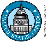 Stock vector united states capitol 86504767