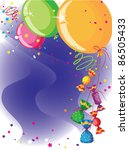 illustration of a balloons and... | Shutterstock .eps vector #86505433