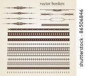 set of vector borders for design | Shutterstock .eps vector #86506846