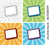 doodle frame with sunbeam... | Shutterstock .eps vector #86508499