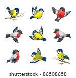 bird,birdie,black,blue,branch,bright,brisk,bullfinch,cartoon,child,chirp,christmas,cute,drawing,element