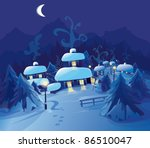 merry christmas  happy new year ... | Shutterstock .eps vector #86510047