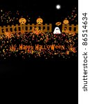 happy halloween   text space | Shutterstock . vector #86514634