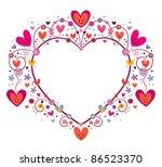 cute heart frame for text - stock vector