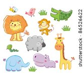 funny animal | Shutterstock .eps vector #86526622