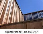 Wooden Gate Against The Sky