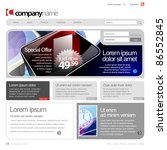 gray website template 960 grid. | Shutterstock .eps vector #86552845