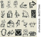 childlike sketchy icons  hand... | Shutterstock .eps vector #86557066