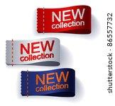 textile labels. vector. | Shutterstock .eps vector #86557732