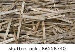detail of broken wood planks - stock photo