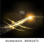 abstract golden lines on black... | Shutterstock .eps vector #86561671