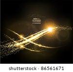 abstract golden lines on black... | Shutterstock .eps vector #86561671