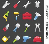 Tools icon set-Color - stock vector