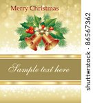 christmas greeting card with... | Shutterstock .eps vector #86567362