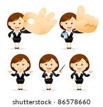 elegant people series   ... | Shutterstock .eps vector #86578660