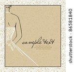 card with beautiful bride...   Shutterstock .eps vector #86581840