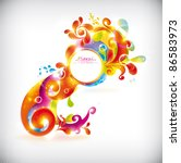 abstract colorful vector banner | Shutterstock .eps vector #86583973