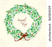 Christmas Holly Wreath...