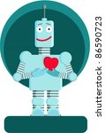 The Robot Standing With Heart...