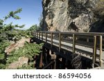 Trestle In Myra Canyon