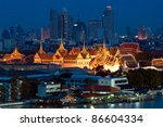 landmark of bangkok city ... | Shutterstock . vector #86604334