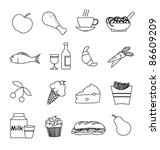 food icon set | Shutterstock .eps vector #86609209