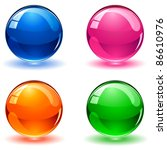 set of colorful balls on white... | Shutterstock .eps vector #86610976