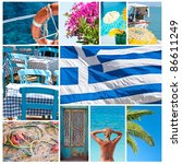 Greece collage - (All photos you can find in my port in high resolution) - stock photo