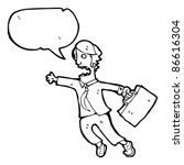 cartoon rushing man | Shutterstock .eps vector #86616304