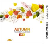 vector autumn abstract floral... | Shutterstock .eps vector #86618278