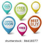 round 3d pointer for eshop... | Shutterstock .eps vector #86618377