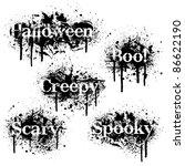 set of halloween themed grunge...   Shutterstock .eps vector #86622190