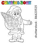 coloring book santa claus topic ... | Shutterstock .eps vector #86623525