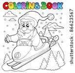 coloring book santa claus topic ... | Shutterstock .eps vector #86623567