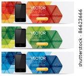vector website headers  smart... | Shutterstock .eps vector #86623666