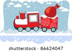 new year winter christmas train ... | Shutterstock .eps vector #86624047