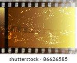 Grunge Fragmentary Film Strips. ...