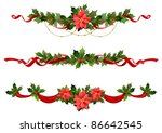 christmas decoration. raster... | Shutterstock . vector #86642545