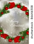 abstract  xmas greeting  card | Shutterstock .eps vector #86646508