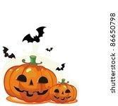 vector illustration   halloween ... | Shutterstock .eps vector #86650798