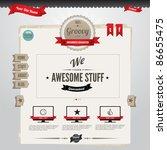 vector website template with... | Shutterstock .eps vector #86655475